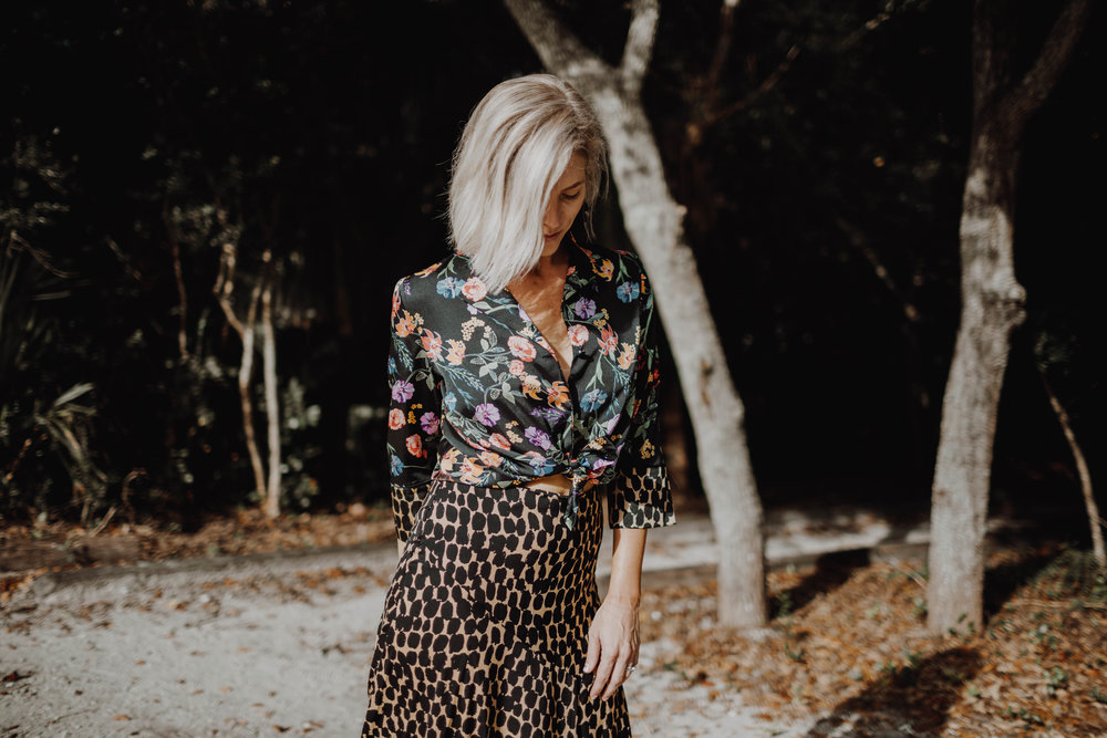 Who What Wear Collection from Target Leopard and Floral worn by Stephanie Mack The Borrowed Babes Fashion Blog - Photos by Kelly Martucci - 1.jpg