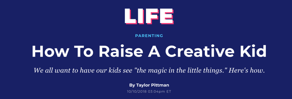 "HuffPost Life                                                                                                                                                                                                                                 Most adults don't have ""the same creative juices"" as kids, says Rachel Giannini, an early childhood specialist at the    Chicago Children's Museum    and a former educator.That means it's easy for parents to pick up a toy and assume what its purpose is. She said the ""perfect example"" is a block. Many parents would begin building with it, but a child might pick it up and pretend it's something else.       Read more:  https://www.huffpost.com/entry/how-to-raise-a-creative-kid_n_5bbe00e2e4b01470d057a487?umj="