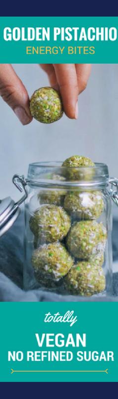 Vegan Golden Pistachio Energy Bites by *Figberry*