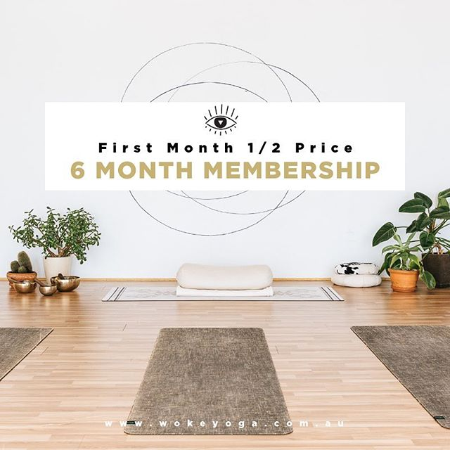 Is feeling calm, connected and strong on your ✨ 2019 Goals List ✨ If so, there has never been a better time to practice with us at WOKE. ✨For the next 30 Days, you'll receive your first month at 1/2 price when you sign up for a 6 month committed yogi membership. ✨ If you come 3 x week, that would make each class just $6 😳 And after your first month, it's still a great deal at $72/fortnight. Each class is still only $12 at that rate! ➕ There are so many other awesome benefits of being a member - which we constantly strive to improve. ✨So if your ready for more you time in 2019, sign up for our special 6 month deal and save! Link in Bio 💕✨