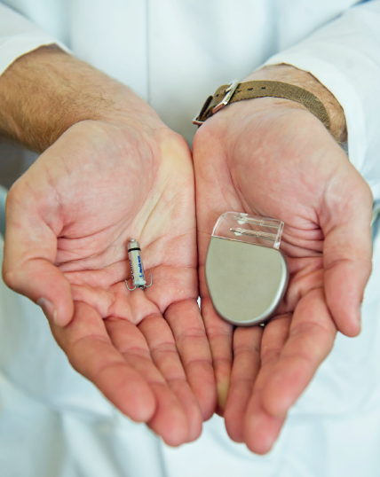 The Micra Transcatheter Pacing System is one-tenth the size of a conventional pacemaker.