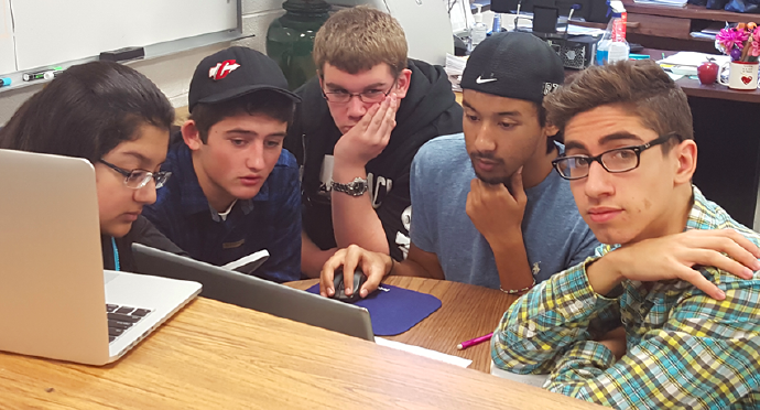 Students from Canton High School learn about cybersecurity while participating in the CyberPatriot competition.