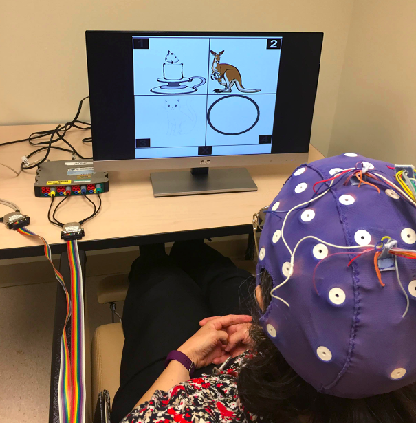 Dr. Jane Huggins controls computer software by detecting and interpreting her brain's activity through the use of algorithms.  (That's right kids — do your math homework and, you too, can be strong with the Force...)