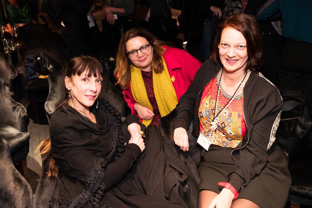 Tamara Salman, Fiona Hughes and Liz Hoggard