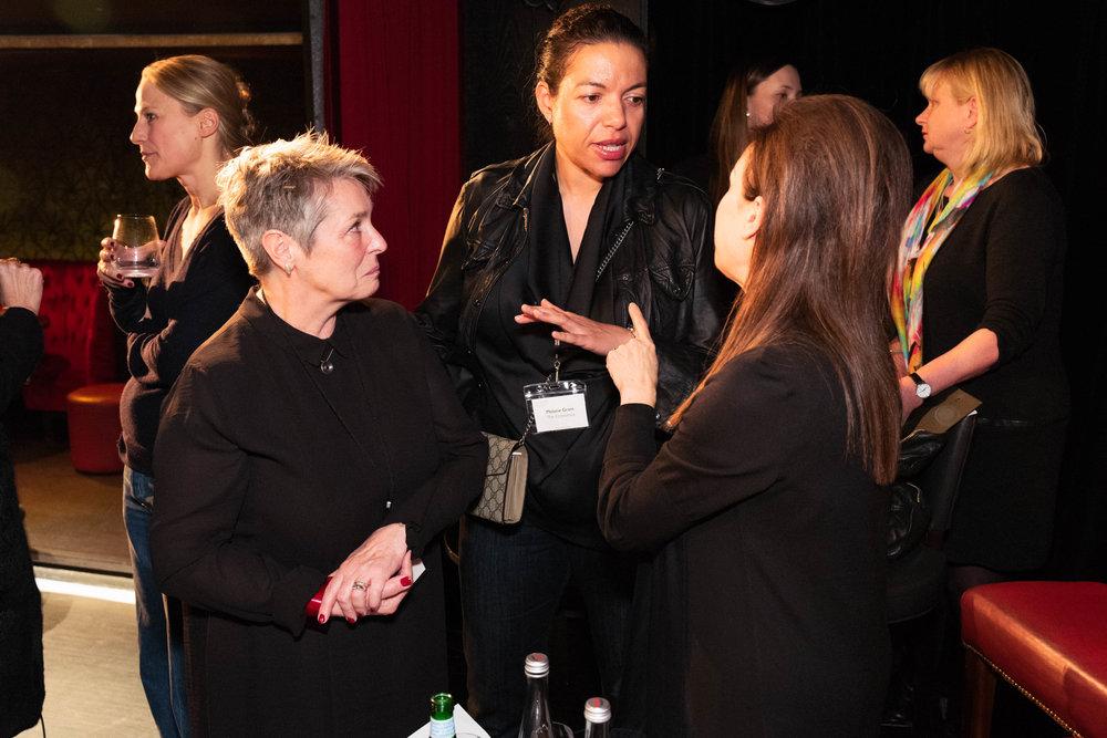 Lindsay Cameron, Melanie Grant and Maureen Paley