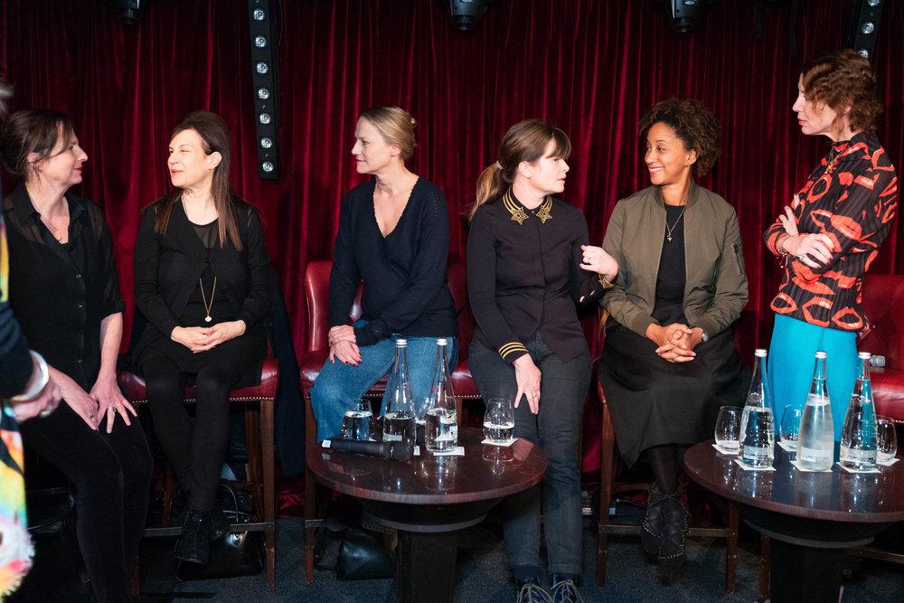 Panellists Margot Heller, Maureen Paley, Cheyenne Westphal, Kate MacGarry, Melanie Keen and Valeria Napoleone