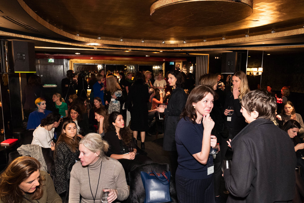 Guests before the launch event in the 1863 room at TheArts Club