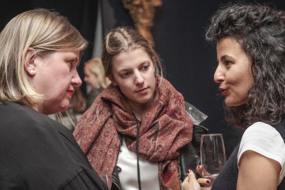 Julie Lomax, Dea Vanagan and Fatos Ustek