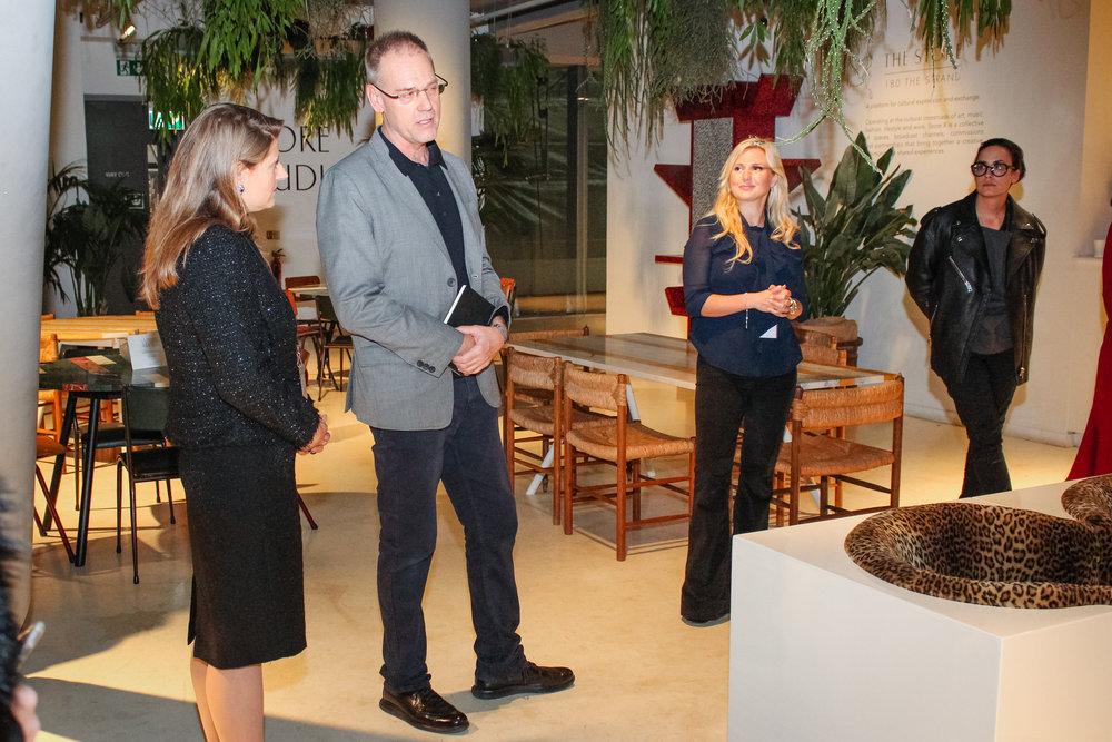 Theodora Clark, Greg Hilty, Katrina Aleksa, and Hana Noorali