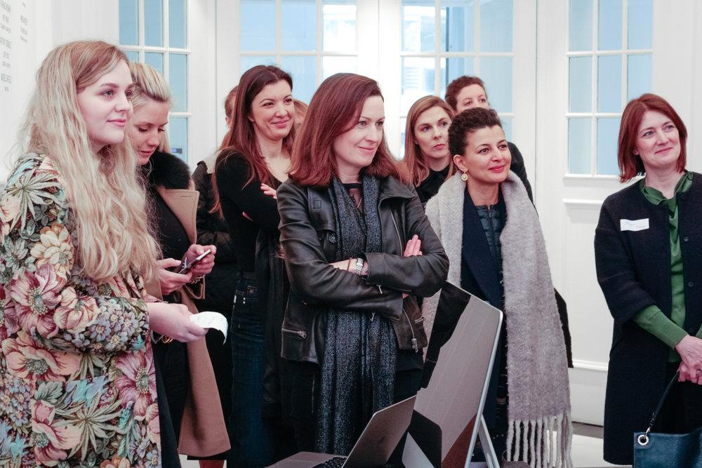 Hannah Clynch, Katrina Aleksa, Diana Spiegelberg, Jessica McBride, Fatos Ustek and Maggie O'Regan
