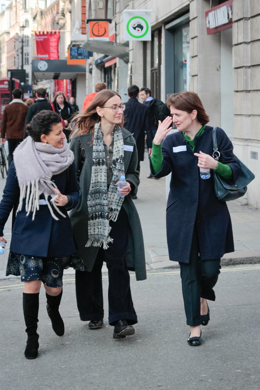 Fatos Ustek, Katya Belyaeva and Maggie O'Regan