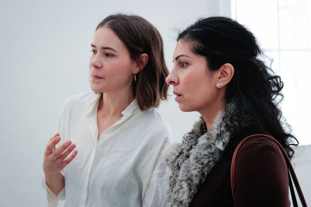 Grace Perrett and Sheetal Varma  The Association of Women in the Arts, Galerie Thaddaeus Ropac, Somerset House, 2018