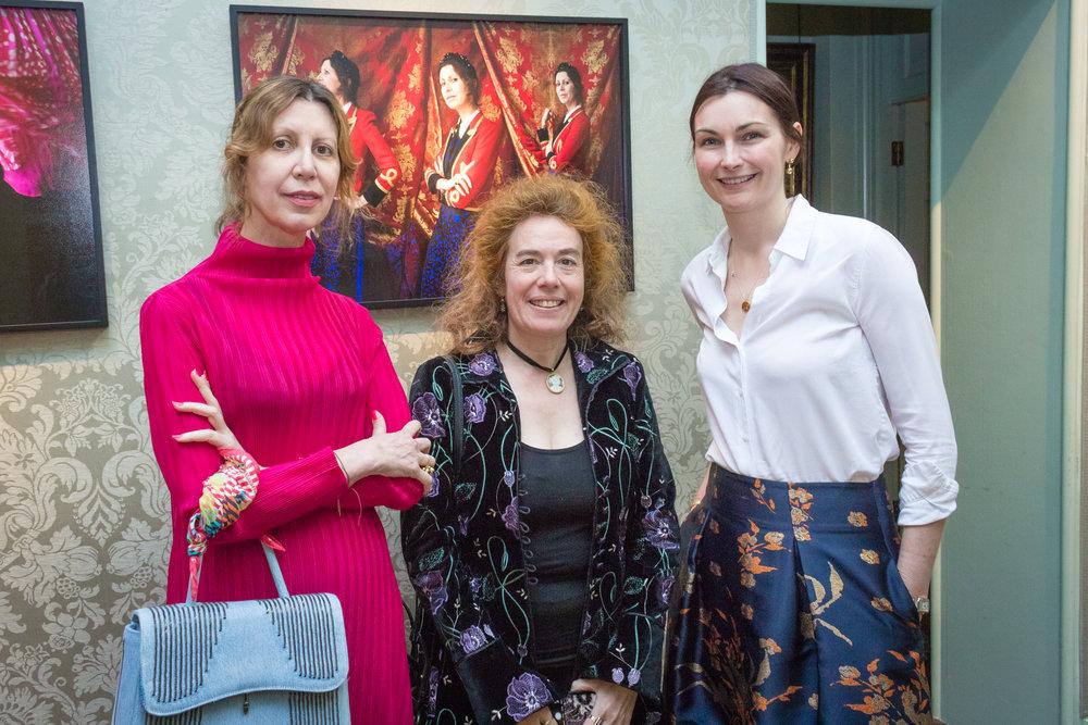 Valeria Napoleone, Carla van de Puttelaar and Jo Baring