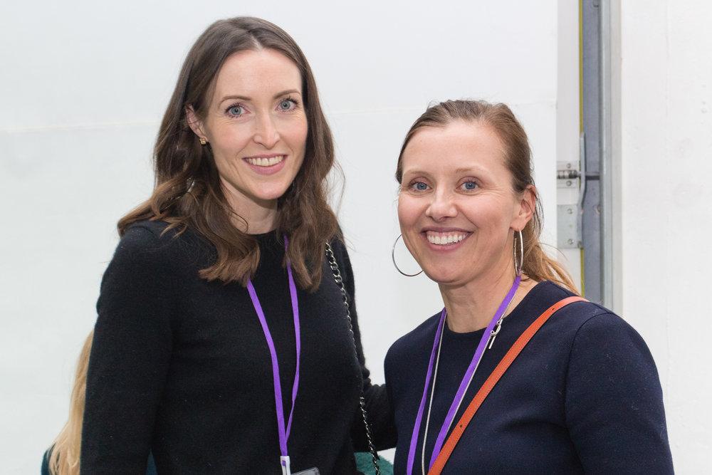 Sarah Barker and Annka Kultys