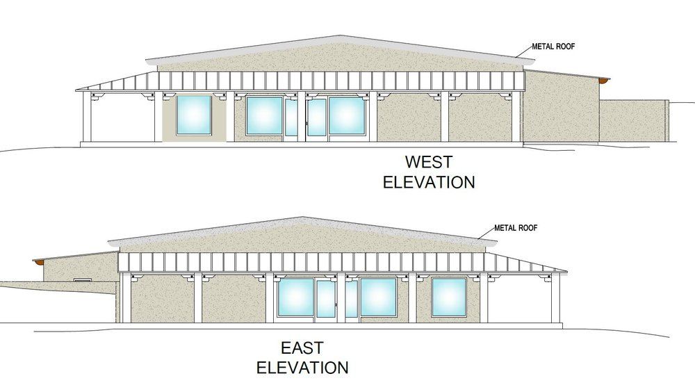 Meeting Hall - E/W Elevation