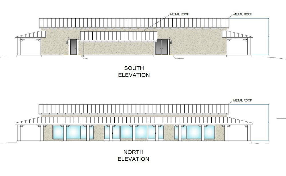 Meeting Hall - N/S Elevation