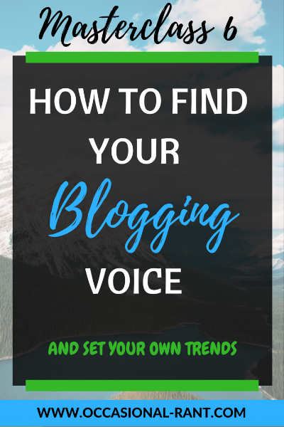 How to stay authentic and find your own blogging voice, in 3 easy steps.