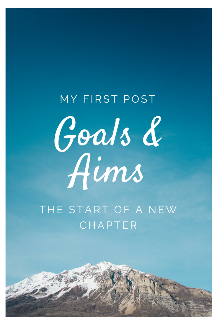 My first post: goals and aims