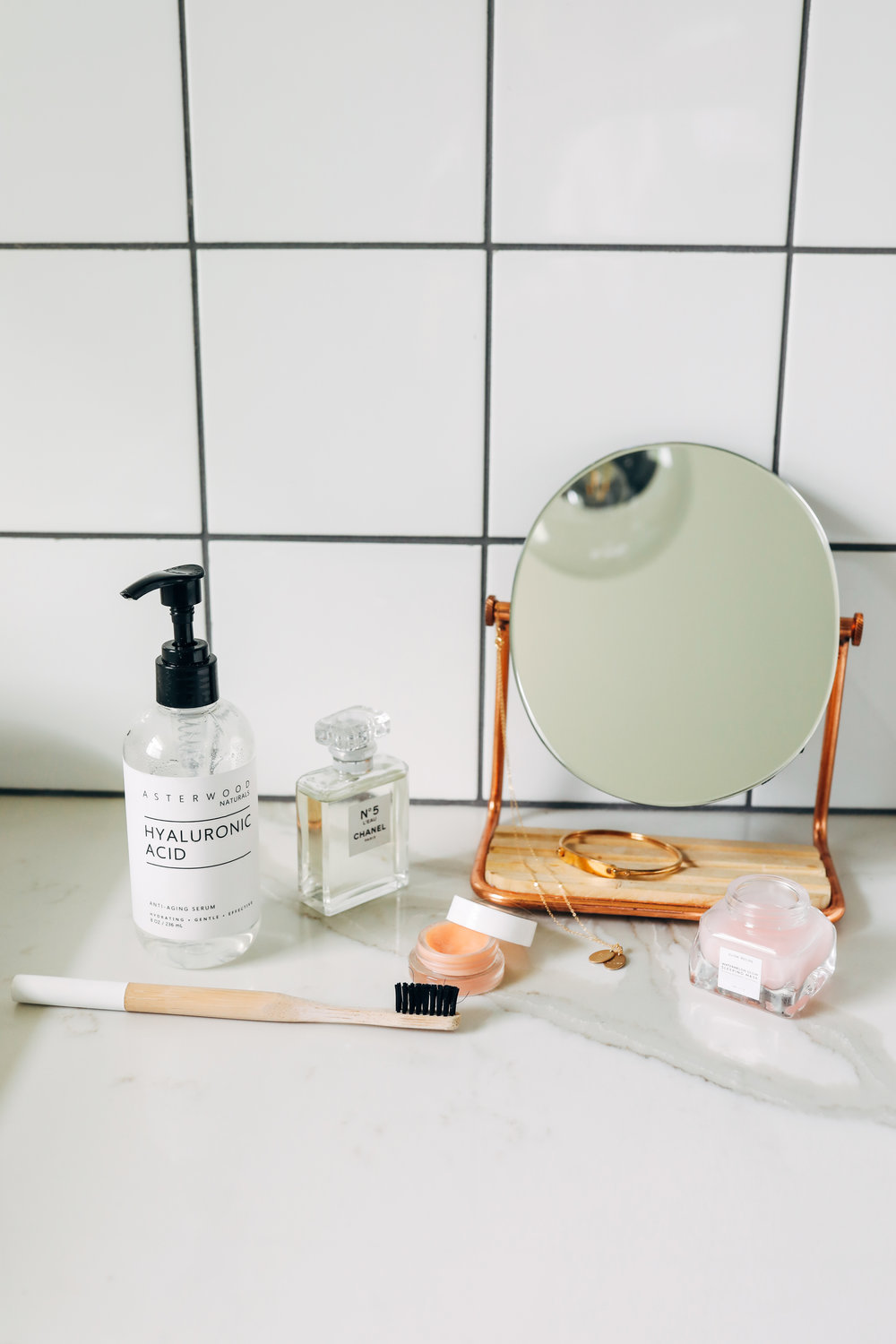 An array of products for healthy skin