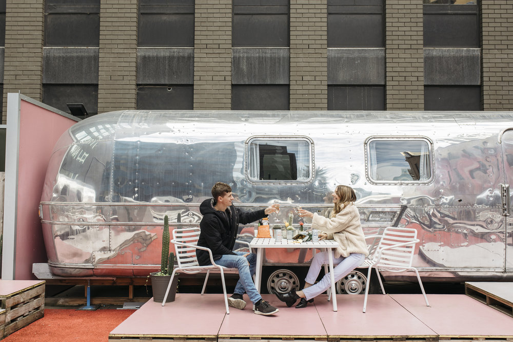 Staying at airstream hotel in Melbourne, Australia.
