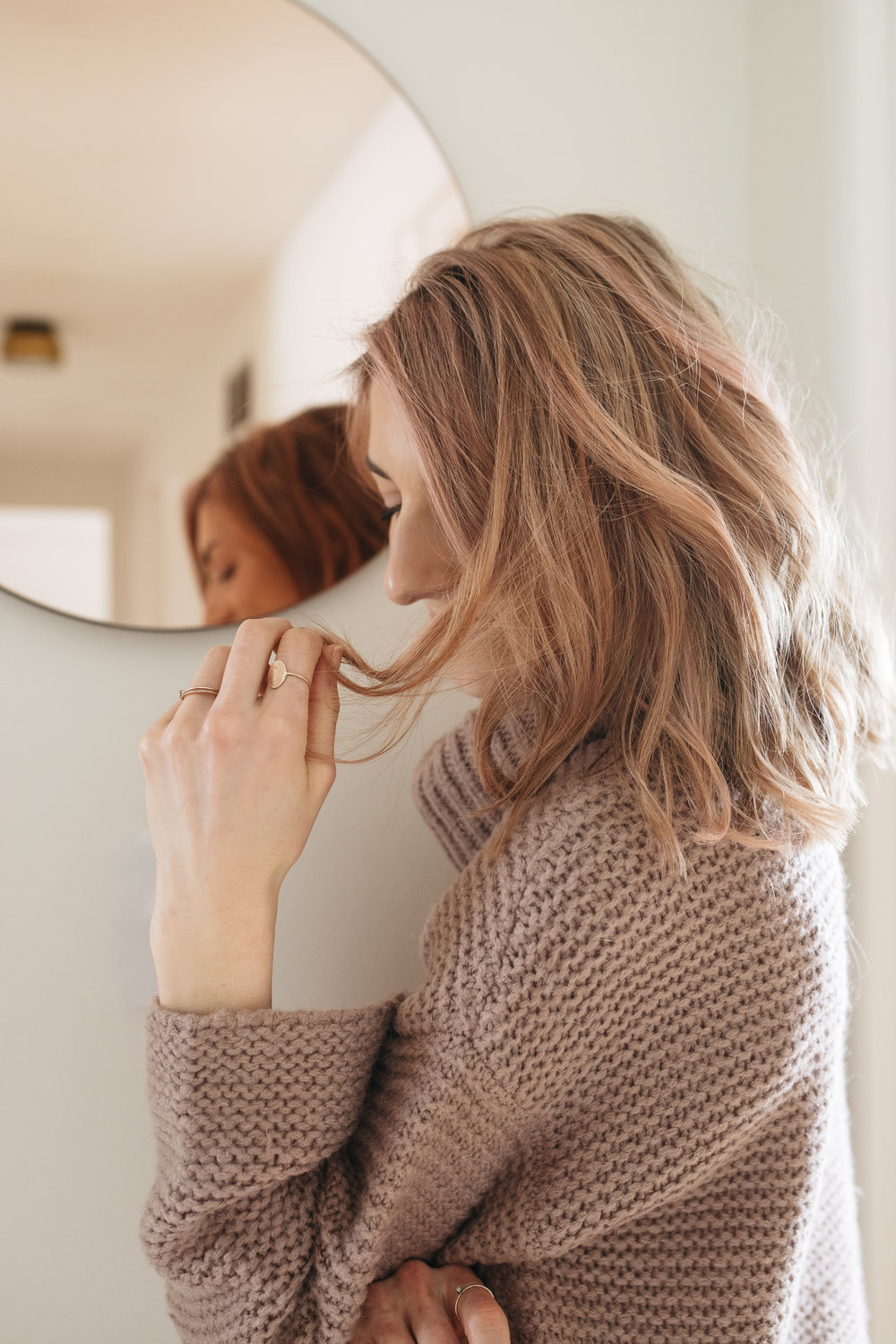 try out  Rose Gold Hair Tint  for yourself! It's perfect for switching up your look, minus the commitment of permanent pink dye.