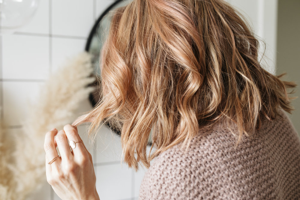 I decided to go rose gold. This hair tint has a beautiful color and I can't wait to share my hair care tips with you in this blog post for glowing healthy hair