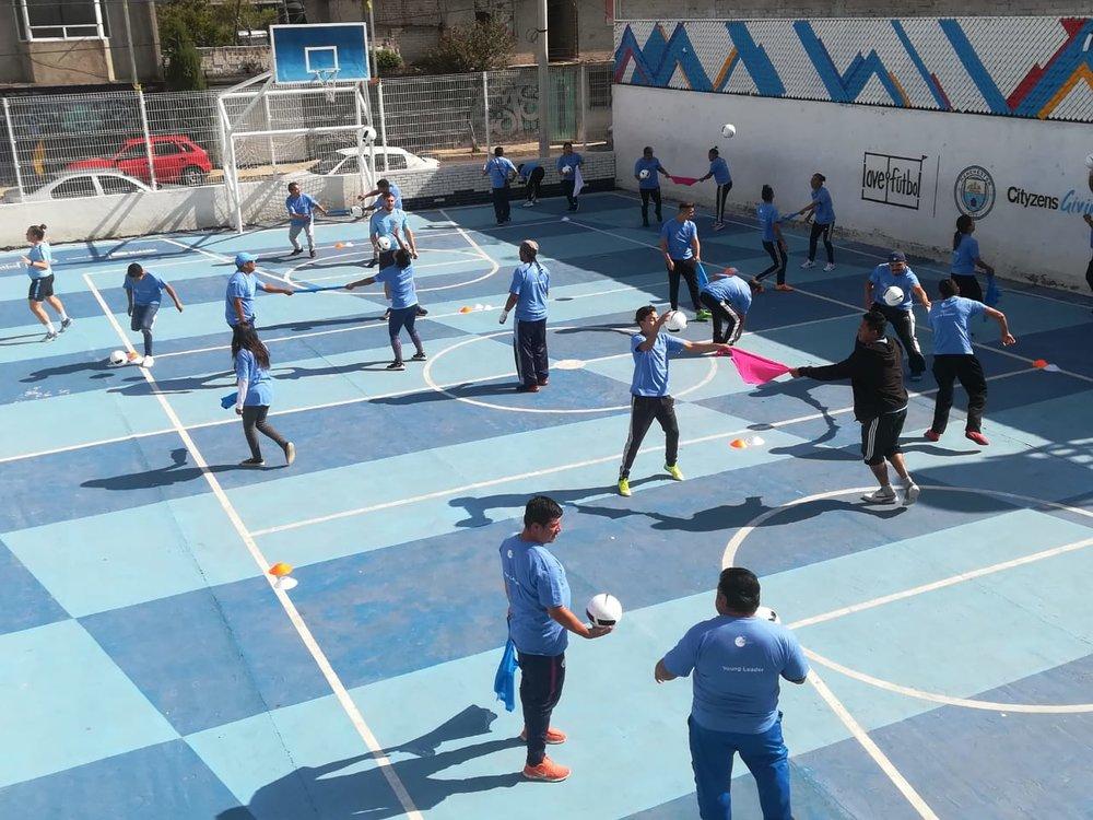 Group training in La Doce (Valle de Chalco, Mexico)