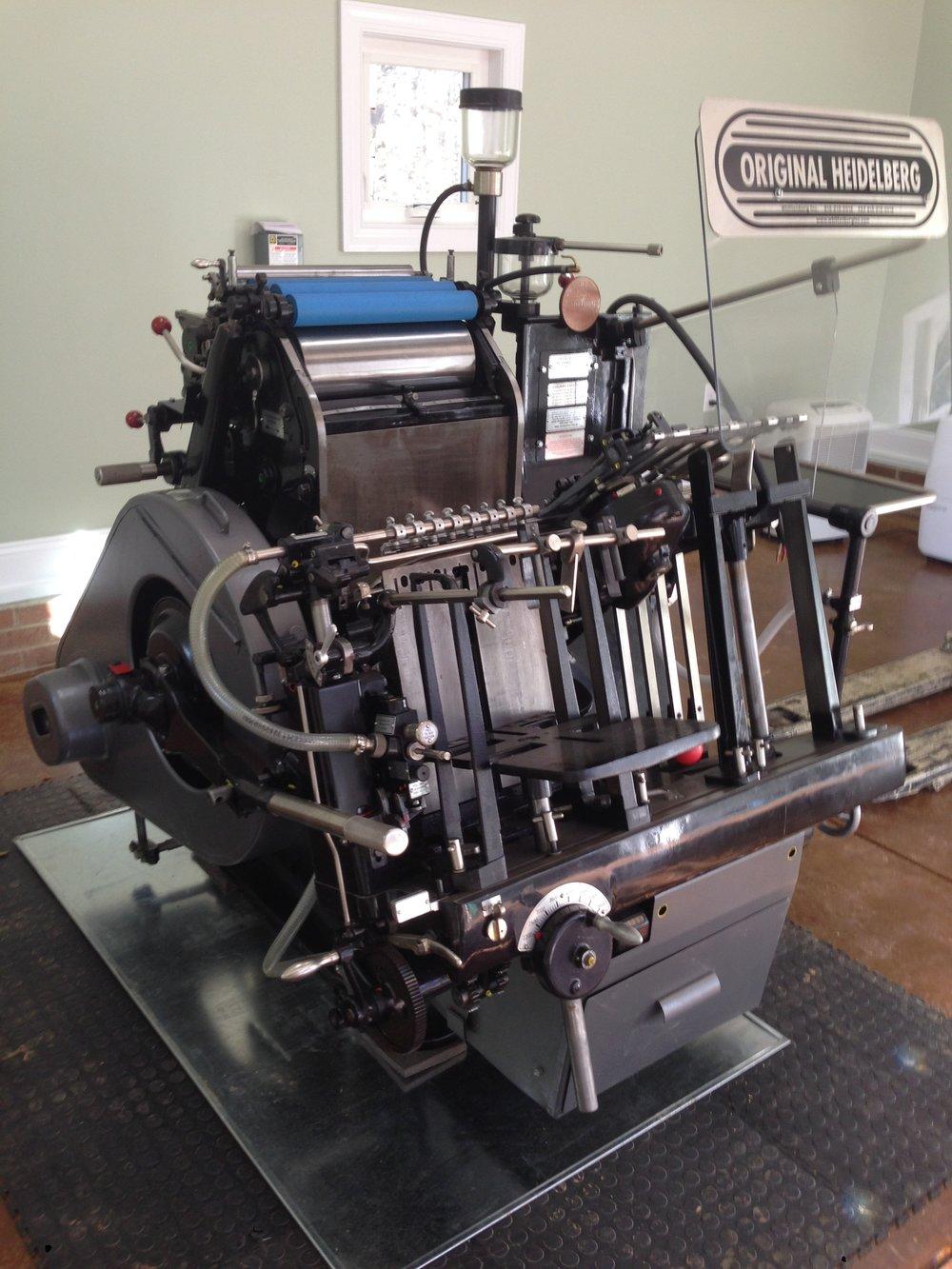 heidelberg letterpress