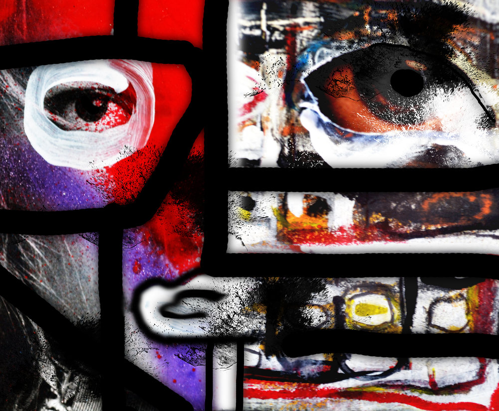 "Face Off Series - Mondrian-""Art is The Path To Being Spiritual"" - Piet Mondrian"