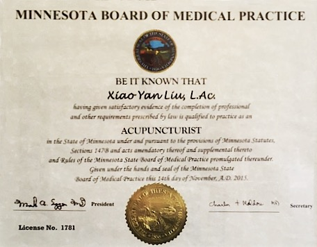 MN Acupuncturist License