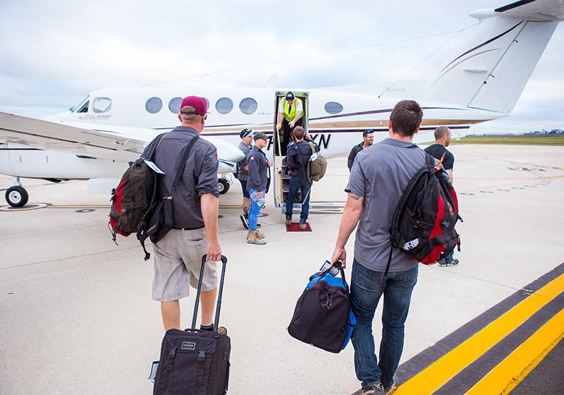 FIFO Crew aircraft boarding