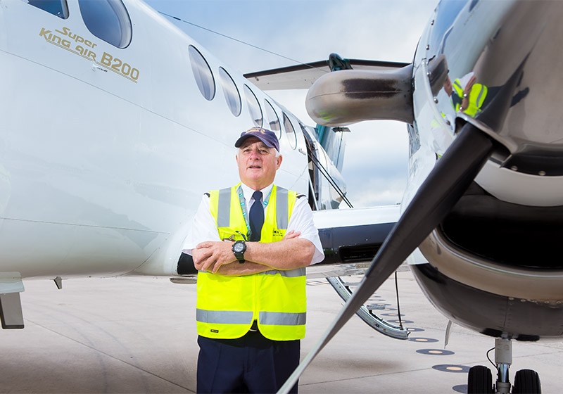 Air Charter Co-ordinators' Chief Pilot John Bain