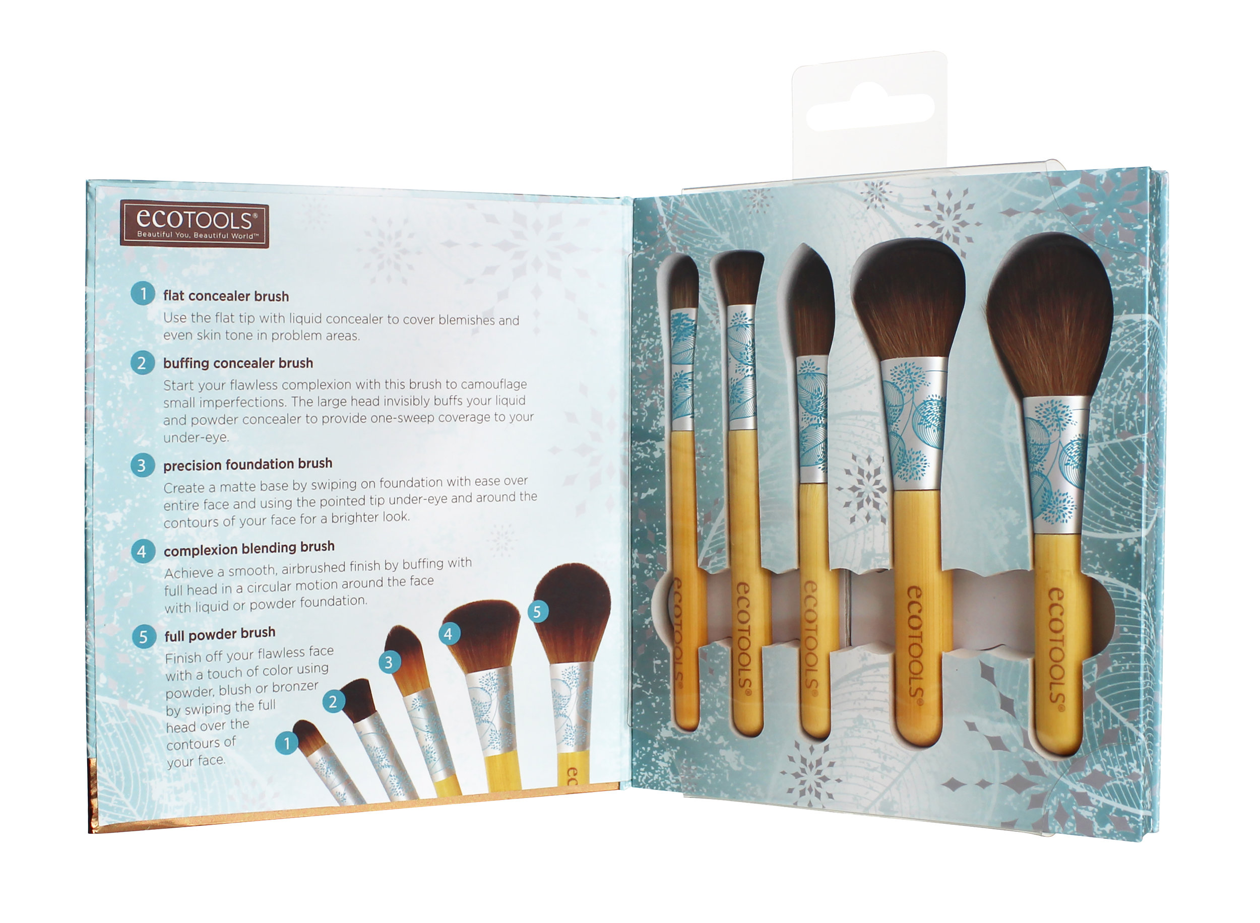 EcoTools Festive and Flawless Set_In Packaging Open