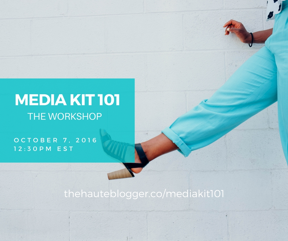 how to make a media kit workshop