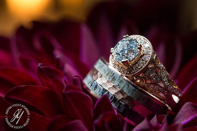 Each and every detail is special on a wedding day and that is way we strive to capture every detail in a special way! #justinyoderstudios #weddingring #ring #wedding #weddingphotography #flower #diamonds #epic #details #weddingdetails