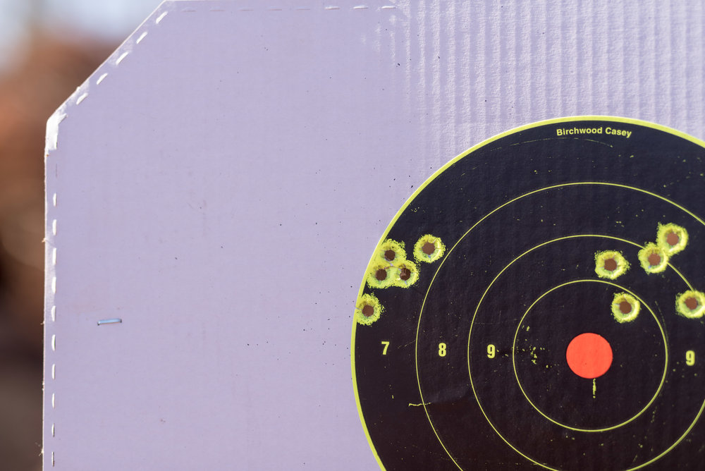 Two 5 shots at 25 yards groups utilizing Shooter's World Powder and Precision Delta projectiles.