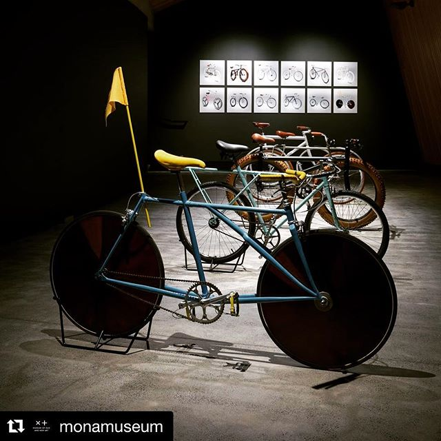#Repost @monamuseum ・・・ Yas! Art and bikes. Some of our favourite things! . . . .  1. Rate your knowledge of a bike. 2. Draw a bike. 3. Get a museum to build the bike (see steps 1 and 2). @Gianluca_Gimini's Velocipedia IRL is open now in the library gallery.