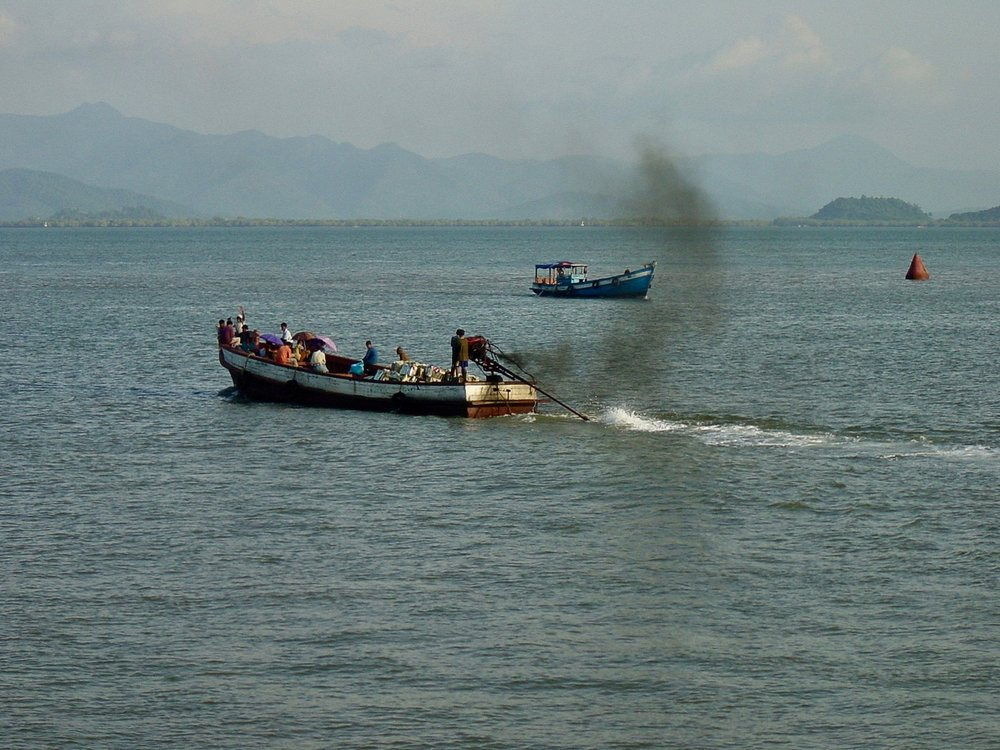 Kawthoung Boat Traffic