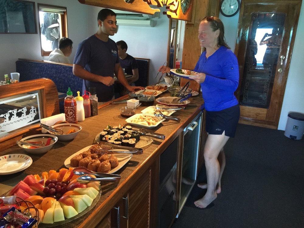 Jodi and the Japanese buffet