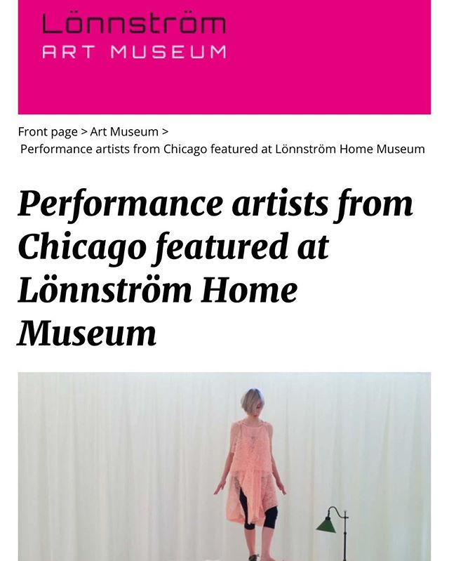 thanks to all who attended yesterday's workshop and lecture in Rauma, Finland  http://www.lonnstrommuseums.fi/performance