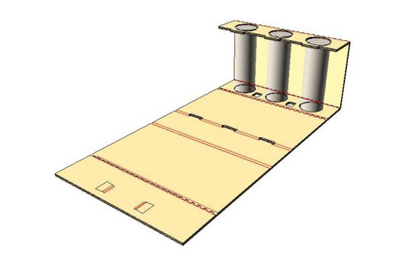 - Fold insert so that 'Top of Can' panel folds up, over and onto the top of cans.