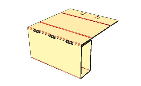 - Continue to wrap insert around can until you have formed a rectangular shape.