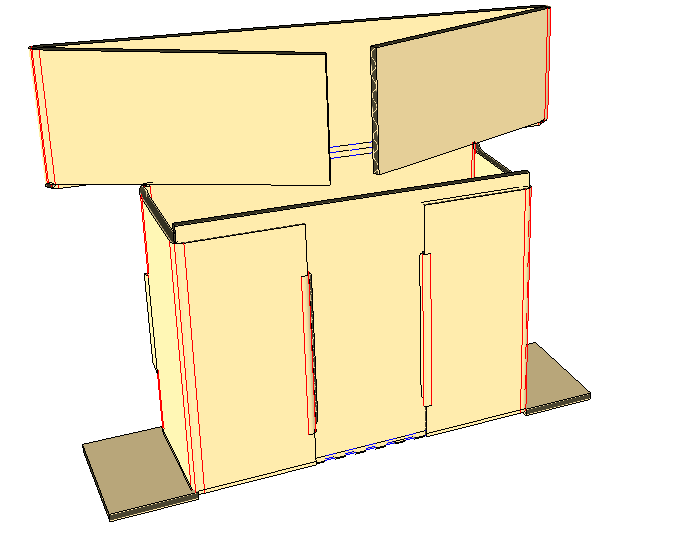 - Place carton upright and insert cans.