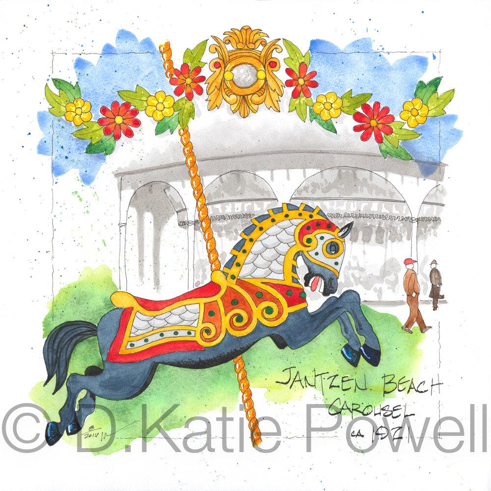 Jantzen Carousel Horse