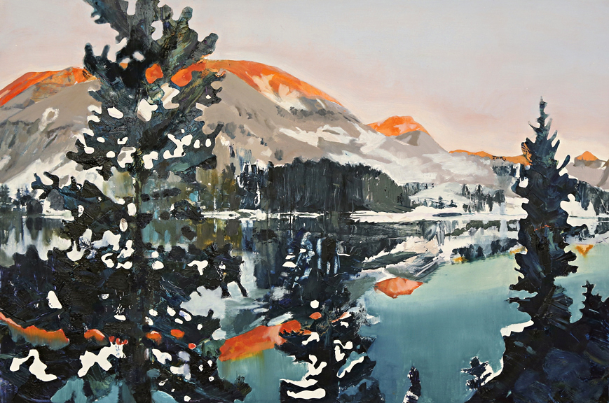 "PCT: Arrowhead Lake, 24""x36"", oil on panel"