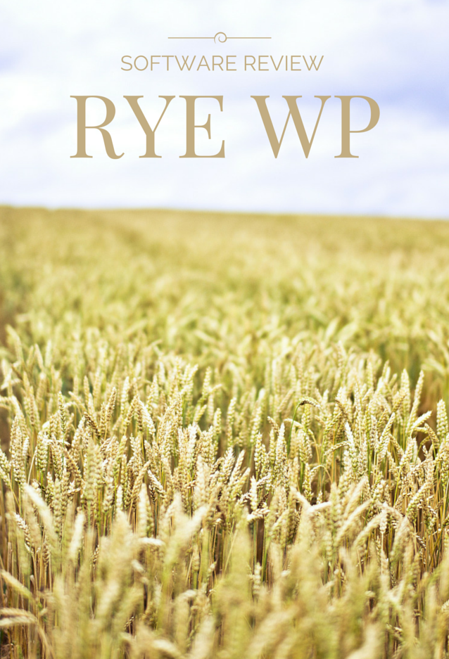 Software Review: Rye WP