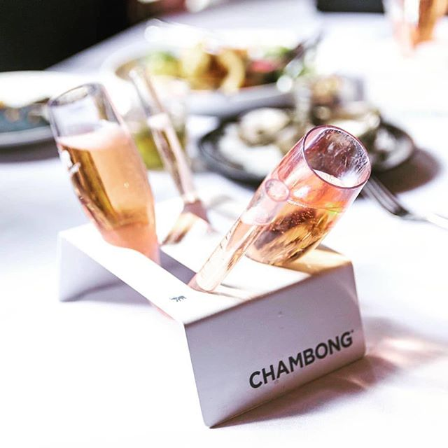 Rosé all day keeps bad vibes away 🍾🥂💕✨@58degreesmidtown serves up #chambongs in #sacramento #brunchaf #roséandslay #cheerstotheweekend #saturdayvibes #classyaf #becauseitsawesome