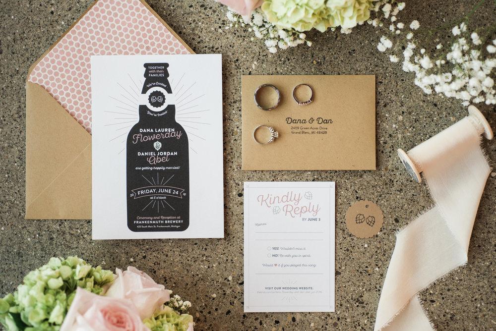 Unique Custom Wedding Invitations — Shannon Flowerday CQ77