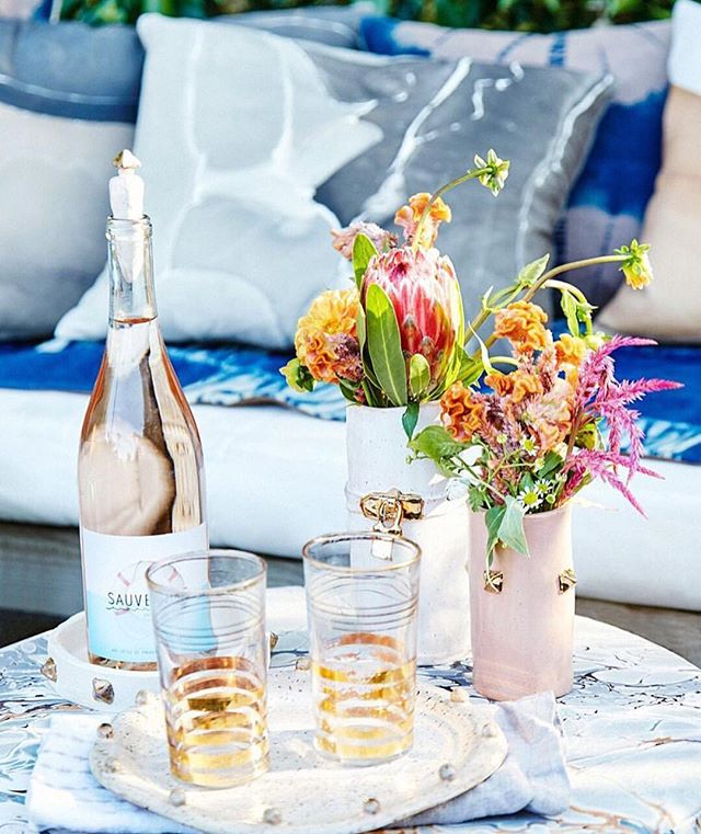 When the pillows are plush and the wine is the perfect shade of blush! Welcome to your fabulous weekend set in style. Shop our garden party elements for the perfect lazy Sunday with the ladies. #ElementsofStyle