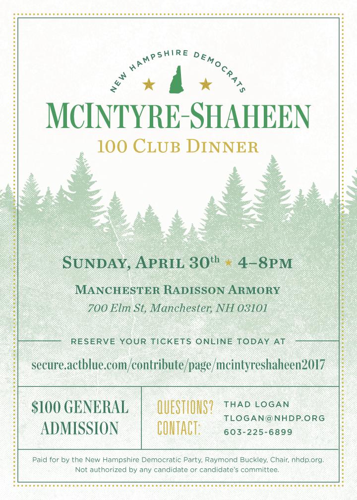NHDP McIntyre-Shaheen Dinner